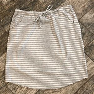 Soft Striped Skirt, drawstring waist